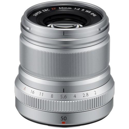 Fujifilm XF 50mm F2 R WR silber - Frontansicht