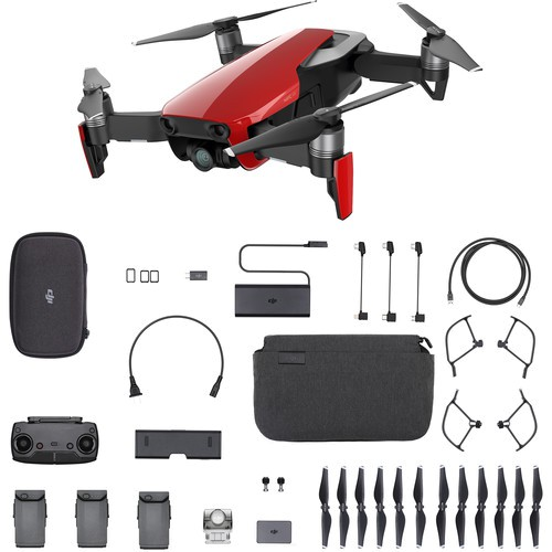 DJI Mavic Air Fly More Combo feuerrot - Lieferumfang