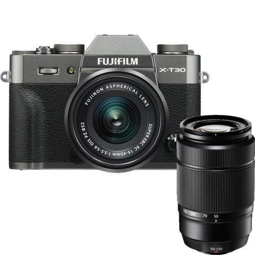 Fujifilm X-T30 Kit mit XF 15-45mm OIS & 50-230mm Objektiv anthrazit -