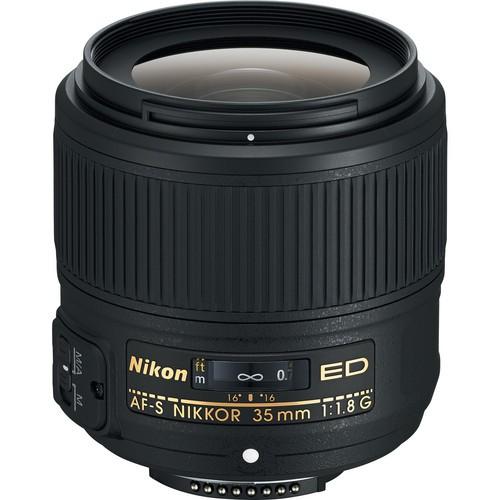 Nikon AF-S Nikkor 35mm F1.8 G ED - Frontansicht