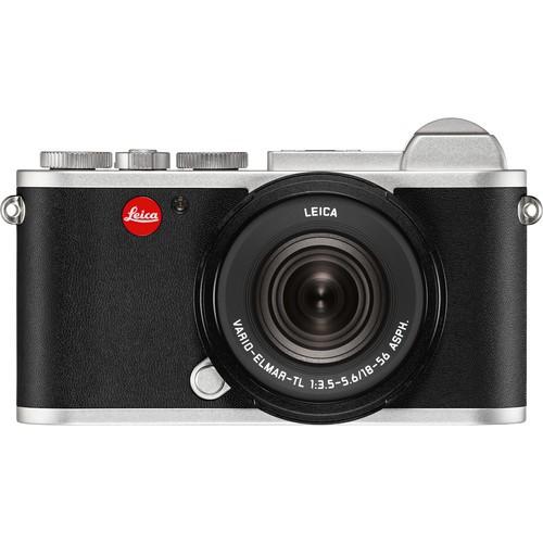 Leica CL Systemkamera silber Kit - Frontansicht