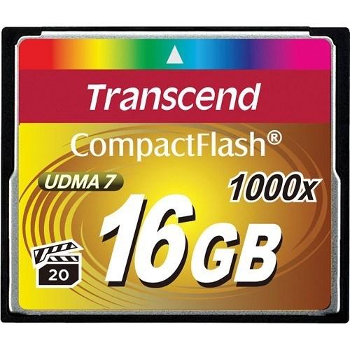 Transcend CF 16GB ExtremeSpeed 1000x Speicherkarte - Frontansicht