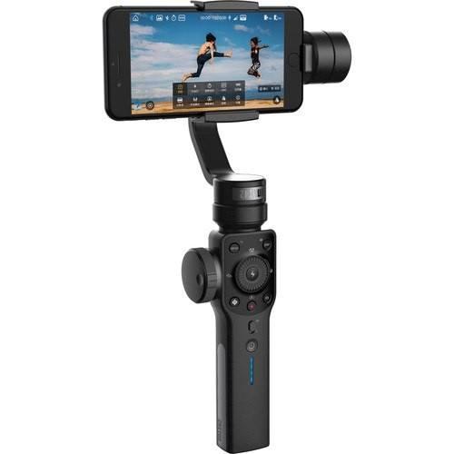 Zhiyun Smooth 4 Smartphone Gimbal - Frontansicht mit Handy