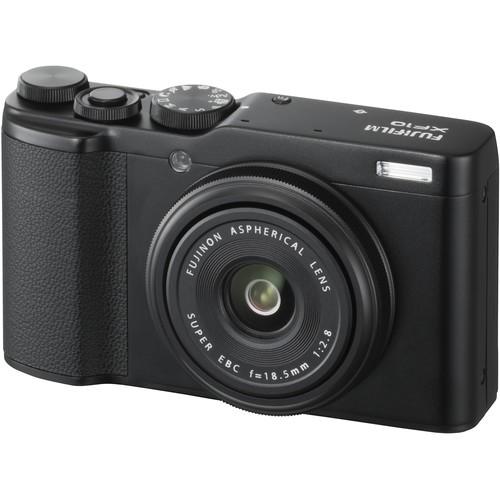 Fujifilm XF10 Premium Kompaktkamera schwarz - Schrägansicht