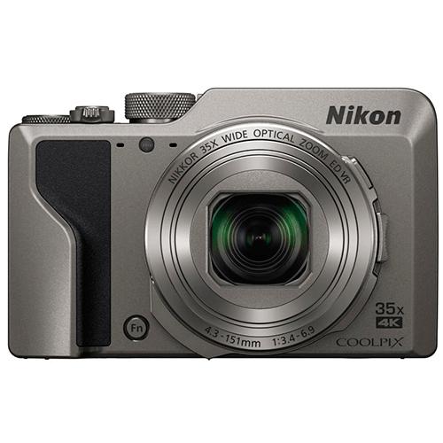 Nikon Coolpix A1000 silber - Frontansicht