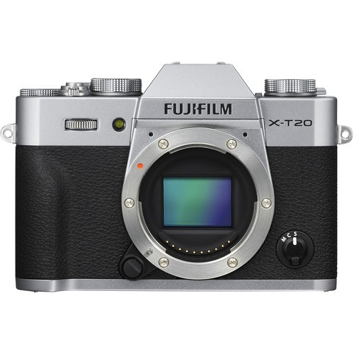 Fujifilm X-T20 Gehäuse silber - Frontansicht