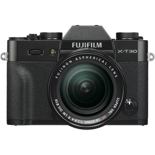 Fujifilm X-T30 Kit mit 18-55mm Objektiv schwarz - Frontansicht