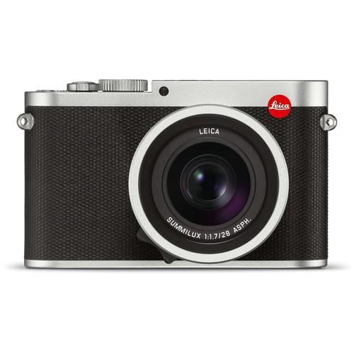 Leica Q Typ 116 Gehäuse silber - Frontansicht