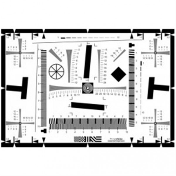 B.I.G. Testtafel für Schärfe, Auflösung und Verzeichnung