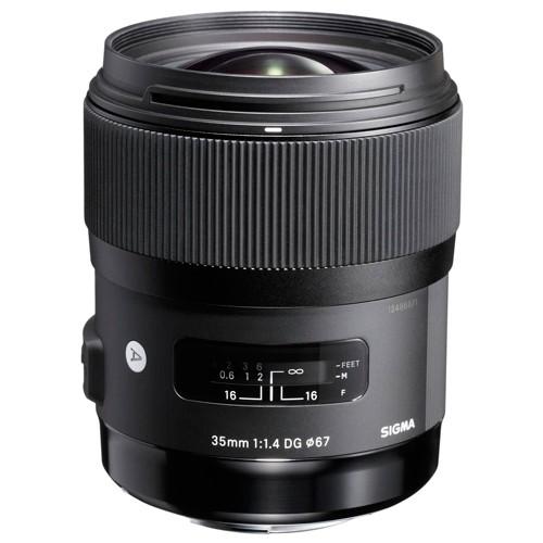 Sigma 35mm f/1.4 DG HSM Art Objektiv für Sony E - Frontansicht