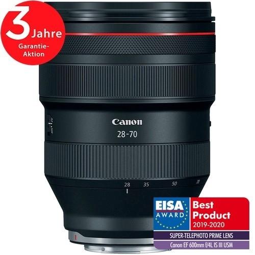 Canon RF 28-70mm f/2L USM Objektiv - Fronansicht Mit extra Logo Eisa
