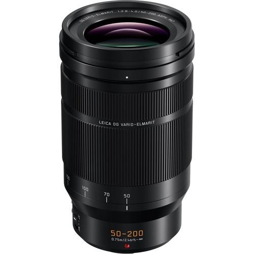 Panasonic Leica DG Vario Elmarit 50-200mm 2.8-4.0 ASPH OIS Objektiv - Frontansicht