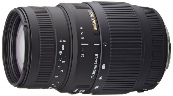 Sigma 70-300mm f/4-5.6 DG HSM Macro Objektiv für Nikon