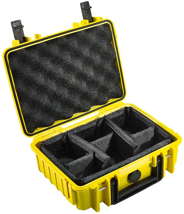 b w outdoor case typ 1000 koffer mit variablen f chern gelb k cher digitale welt