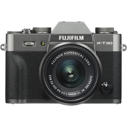 Fujifilm X-T30 Kit mit 15-45mm Objektiv anthrazit - Frontansicht