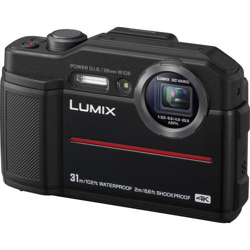 Panasonic Lumix DC-FT7 Outdoor Kamera schwarz - Schrägansicht