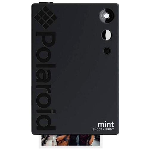 Polaroid Mint 2in1 Sofortbildkamera schwarz - Frontansicht