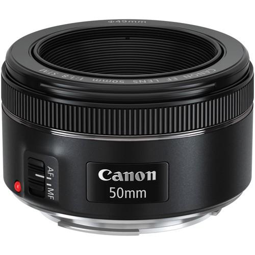 Canon EF 50mm f/1.8 STM Objektiv - Frontansicht