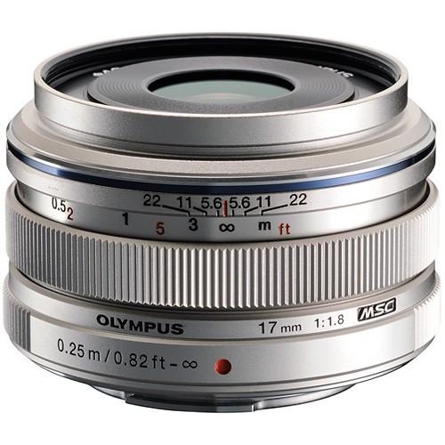 Olympus M.Zuiko Digital 17mm f/1.8 Objektiv silber