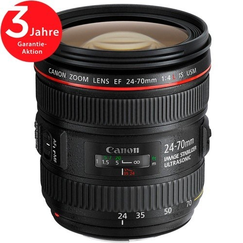 Canon EF 24-70mm f/4 L IS USM Objektiv - Frontansicht
