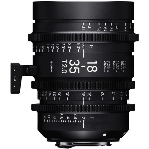 Sigma 18-35mm T2 High-Speed Cine-Objektiv - Frontansicht