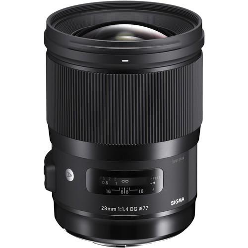 Sigma 28mm f/1.4 DG HSM Art Objektiv für Nikon - Frontansicht