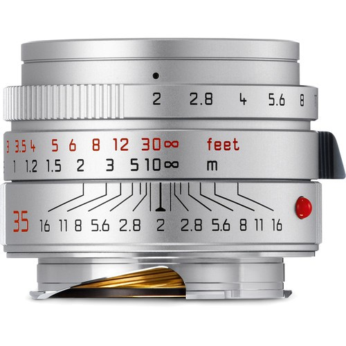 Leica Summicron-M 35mm f/2 ASPH. Objektiv silber (11674) - Frontansicht