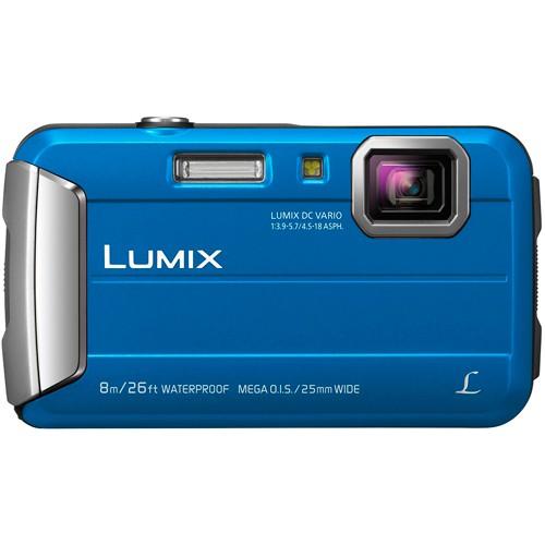 Panasonic Lumix DMC-FT30 blau - Frontansicht