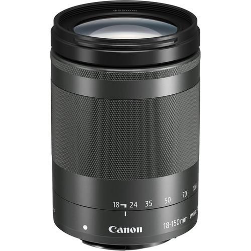 Canon EF-M 18-150mm F3.5-6.3 IS STM schwarz - Frontansicht