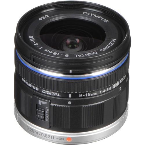 Olympus M.Zuiko Digital ED 9-18mm f/4-5.6 Objektiv - Frontansicht