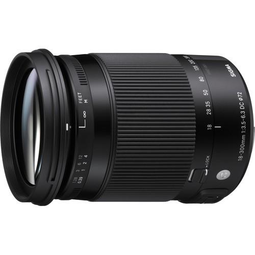 Sigma 18-300mm f/3.5-6.3 DC Macro OS HSM Contemp. Objektiv für Canon