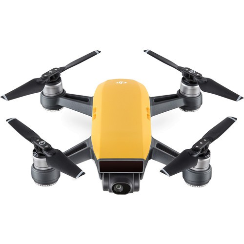 DJI Spark Quadcopter Drohne gelb - Frontansicht