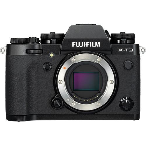 Fujifilm X-T 3 Gehäuse schwarz - Frontansicht