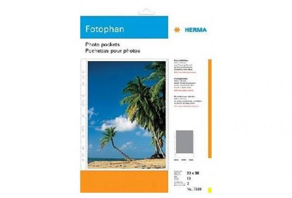 Herma 7589 Fotophan Fotosichthüllen 20x30 10 Blatt weiß