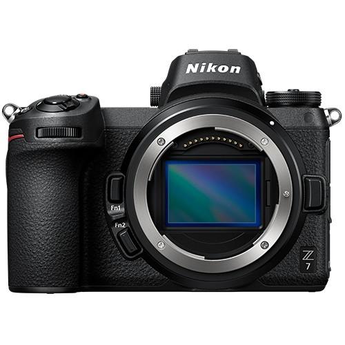 Nikon Z7 Gehäuse mit FTZ Adapter - Frontansicht