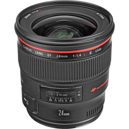 Canon EF 24mm f/1.4 L II USM Objektiv - Schrägansicht