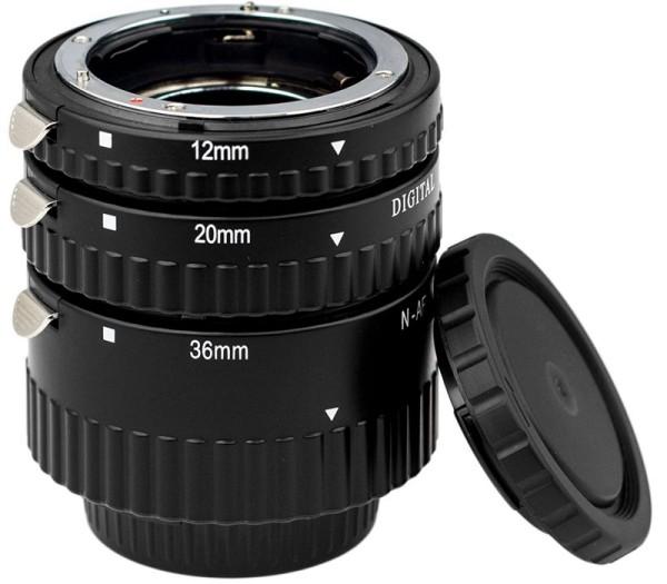 Kenko Zwischenring Set DG AF 12/20/36mm für Nikon - Frontansicht
