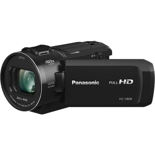 Panasonic HC-V808 Full-HD Camcorder - Schrägansicht