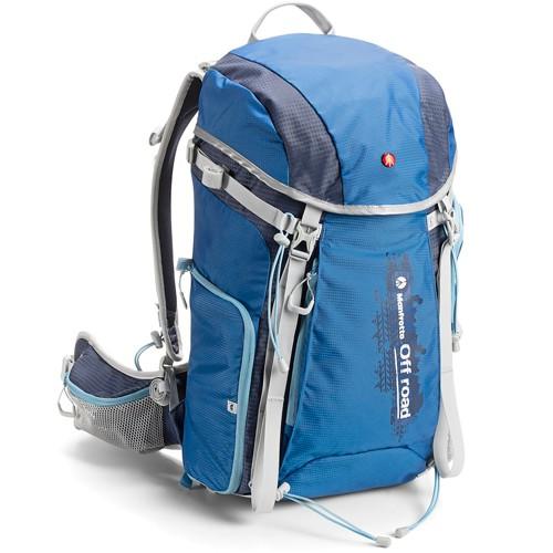 Manfrotto Off road Rucksack 30l blau - Schrägansicht