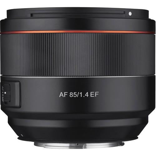 Samyang AF 85mm f/1.4 für Canon Objektiv - Frontansicht