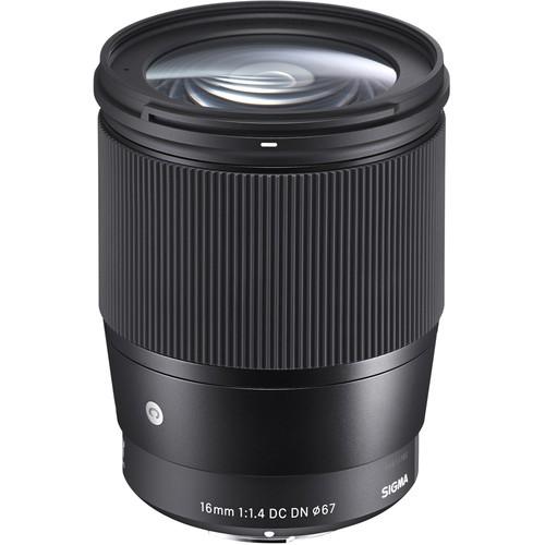 Sigma 16mm f/1.4 DC DN Contemporary Objektiv - Frontansicht