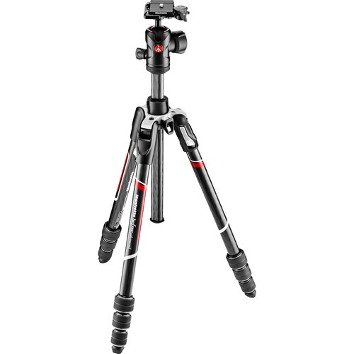 Manfrotto MKBFRTC4-BH Befree Advanced Carbon Reisestativ - Frontansicht