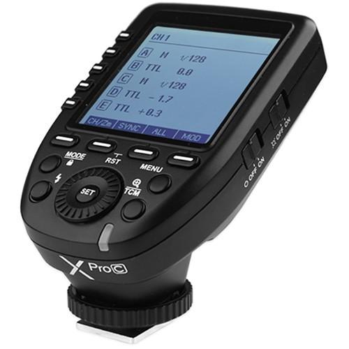 Godox XProC TTL Wireless Blitzauslöser für Canon - Schrägansicht