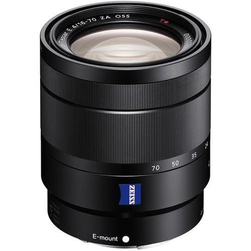 Sony Vario-Tessar T* E 16-70mm f/4 ZA OSS Objektiv - Frontansicht