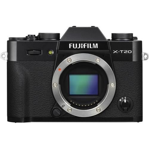 Fujifilm X-T20 Gehäuse schwarz - Frontansicht
