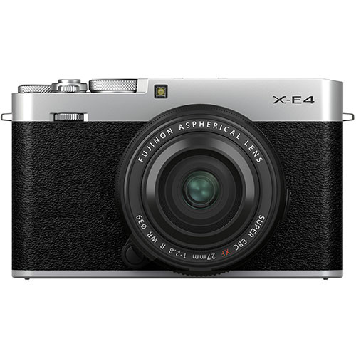 Fujifilm X-E4 Kit mit XF 27mm f/2.8 WR Objektiv silber