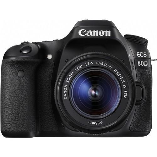 Canon EOS 80D Kit mit 18-55mm Objektiv - Frontansicht