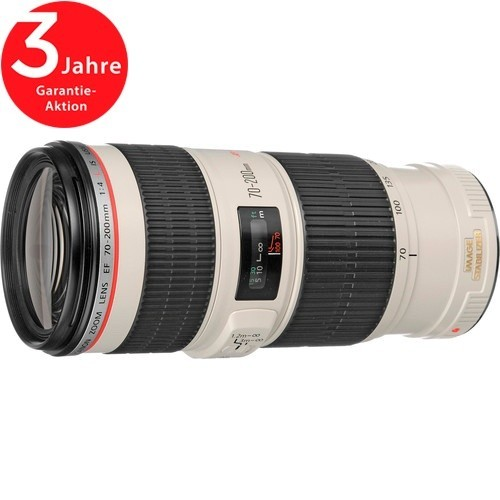 Canon EF 70-200mm f/4 L IS USM Objektiv - Topansicht
