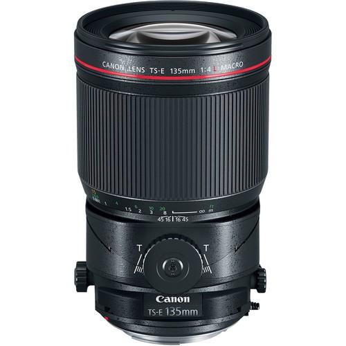 Canon TS-E 135mm f/4L Macro Tilt-Shift Objektiv - Frontansicht