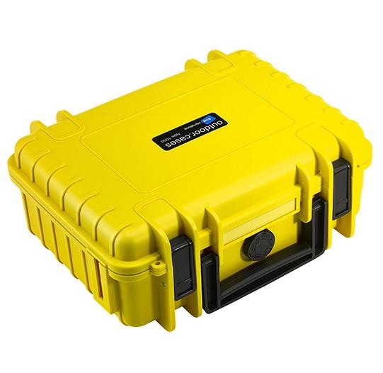 B&W Outdoor Case Typ 1000 Koffer mit variablen Fächern gelb